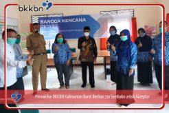 Perwakilan BKKBN Kalimantan Barat Berikan 710 Sembako untuk Akseptor