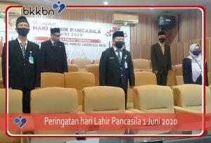 BKKBN Provinsi Kalimantan Barat mengikuti Peringatan Hari Lahir Pancasila Tahun 2020