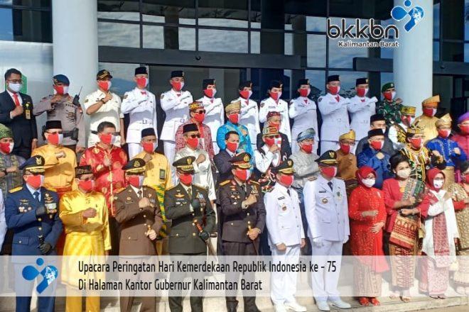 Kaper BKKBN Kalbar hadiri Upacara Peringatan HUT RI ke-75 di Kantor Gubernur Kalbar