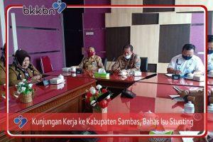 Bahas Stunting, Kaper BKKBN Kalbar Kunjungan Kerja ke Kabupaten Sambas