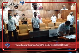 Penandatanganan Perjanjian Kerja Kepala BKKBN Kalbar