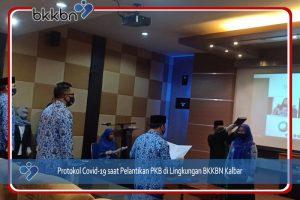 Pelantikan Pejabat Fungsional PKB dengan protokol Covid-19 dan Live Streaming
